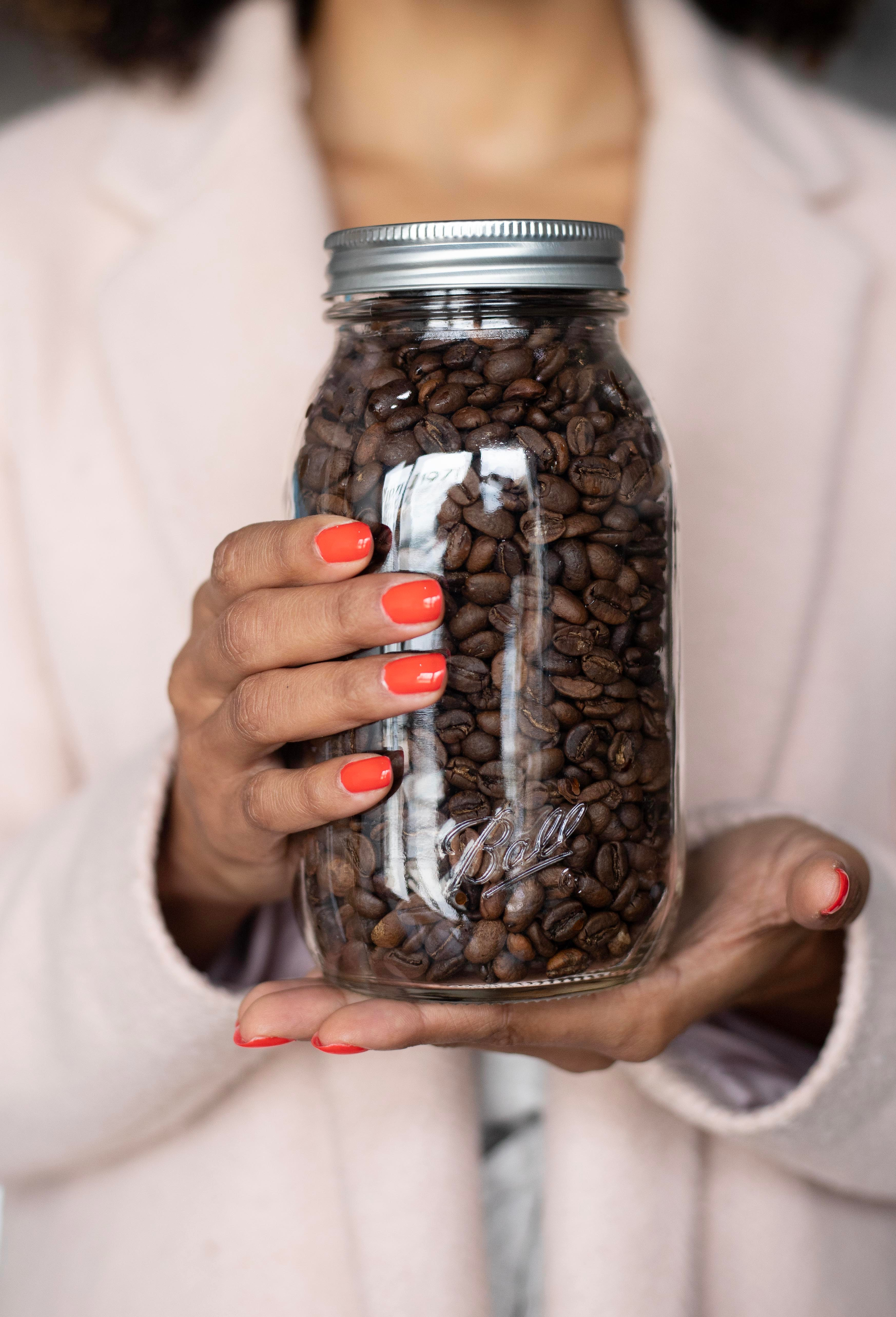 picture of coffee in jar;